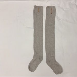 Grey cute knee high socks from urban outfitters